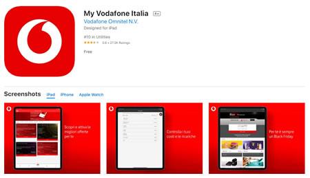 App ufficiale Vodafone