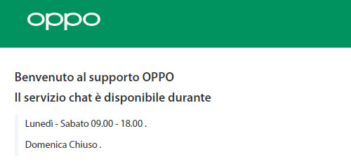 Live Chat Oppo