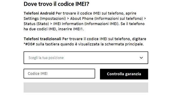 Verifica stato garanzia cellulare Nokia